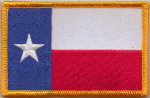Texas Embroidered Flag Patch, style 08.